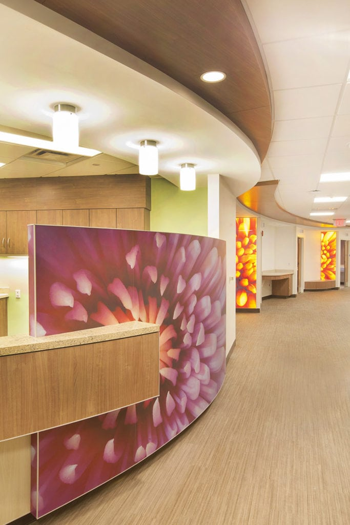 Install Wallcovering and backlit panel Mother Baby Center Abbott Northwestern and Chil­drens Minneapolis