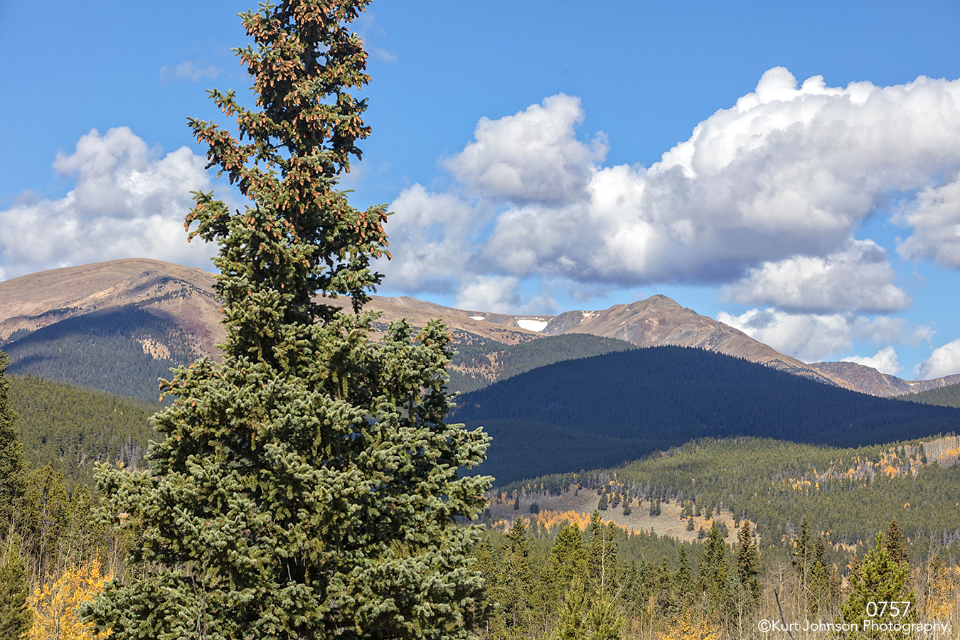 landscape mountains clouds tree colorado
