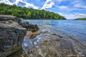 waterscape rocks water landscape blue