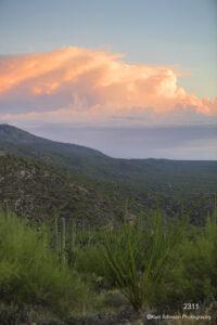 landscape clouds desert grasses mountains