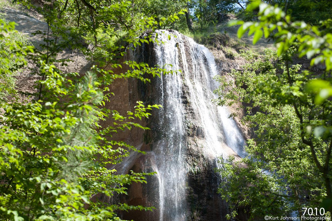 waterfall niobrara landscapes waterscape green trees