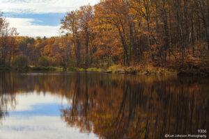 waterscape landscape fall orange lake minnesota