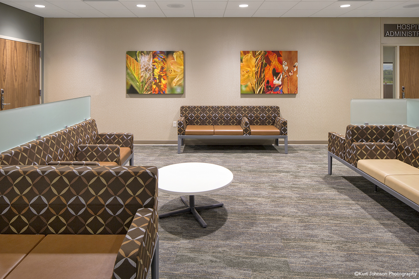 Install-Gallery-Wrapped-art-Sidney Regional Medical Center-Sidney NE-Leo A Daly