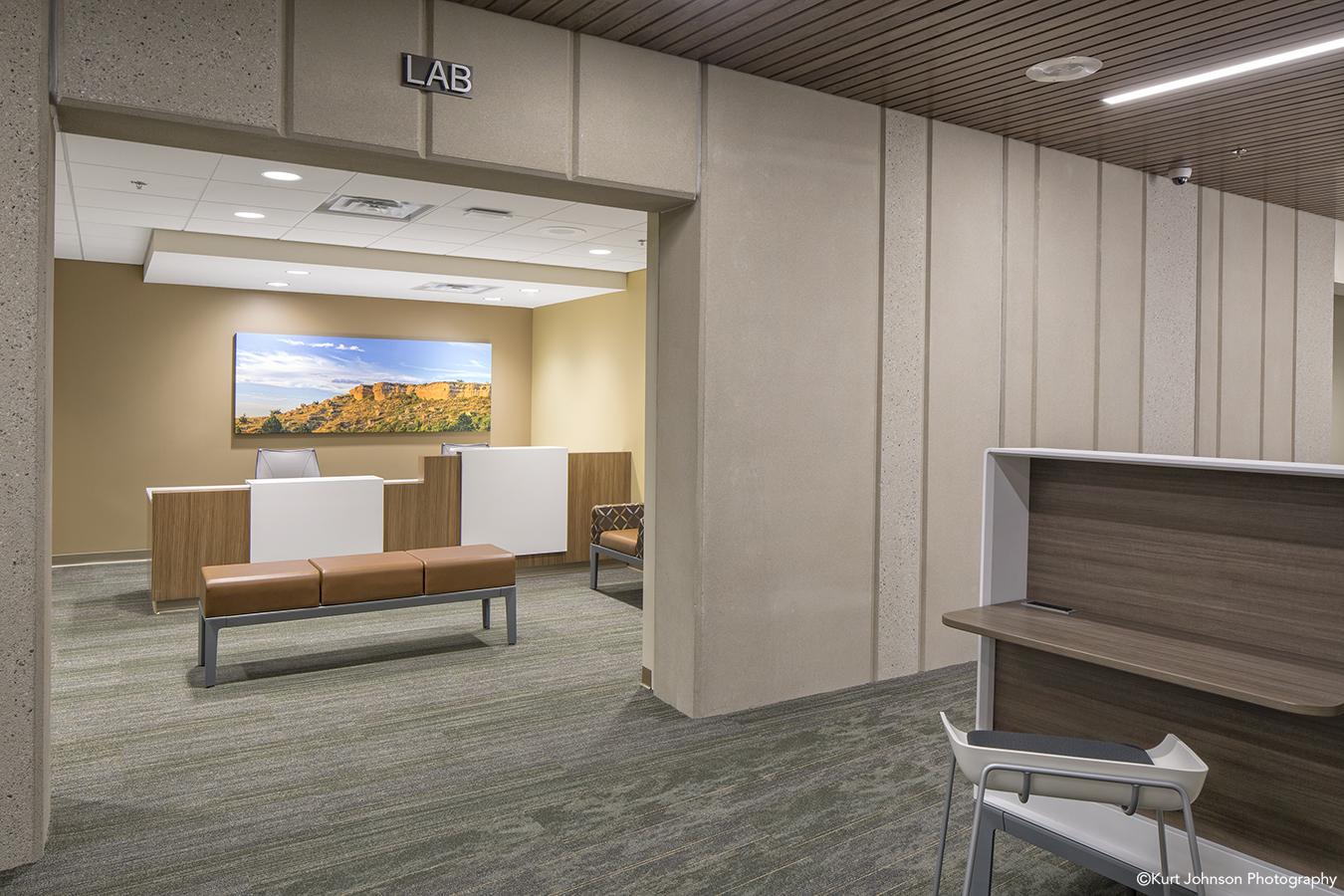 Install-Gallery-Wrapped-art-Sidney Regional Medical Center-Sidney NE-Leo A Daly