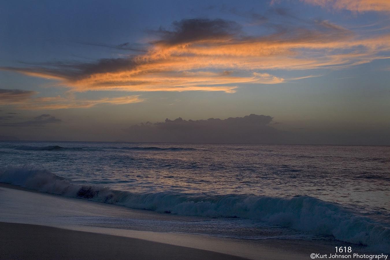 waterscape landscape shore sunset clouds waves ocean sand florida
