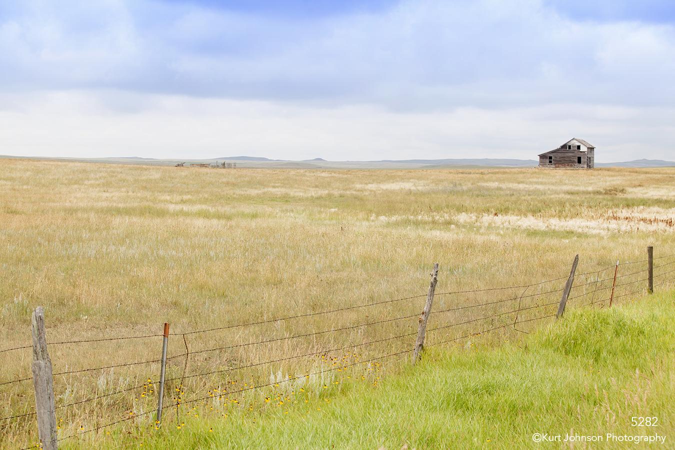 landscape grasses barn fences clouds rural