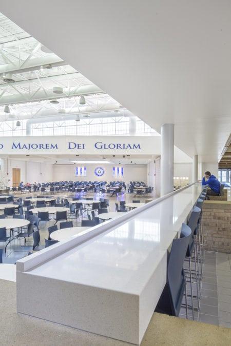 architectural interiors interior design educational commons prep school