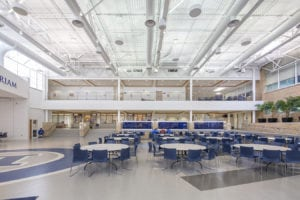 architectural interiors interior design educational commons prep school