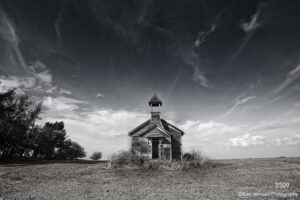 interpretations interpretation filter black and white school house clouds sky