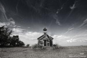interpretations interpretation filter black and white school house clouds sky