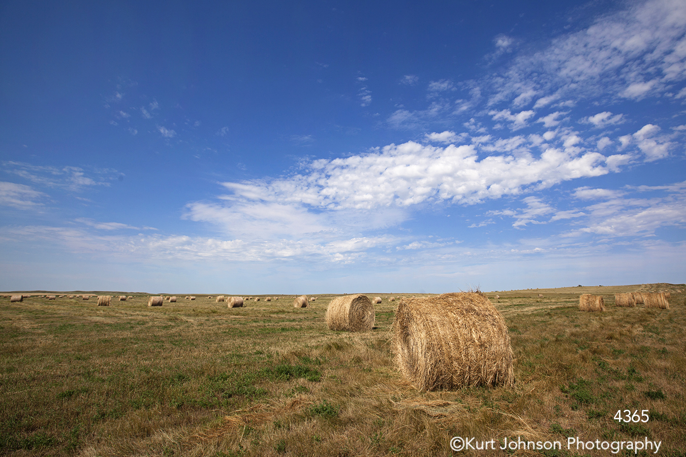 landscape hay field clouds