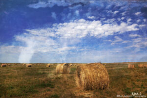 interpretations interpretation filter clouds landscape hay sky earth midwest rural blue