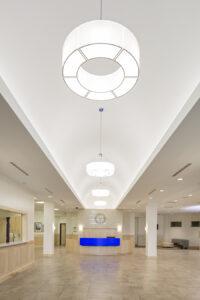 architectural interiors interior design lighting architecture lobby waiting desk