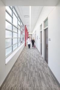 architectural interiors healthcare clinic interior design hallway