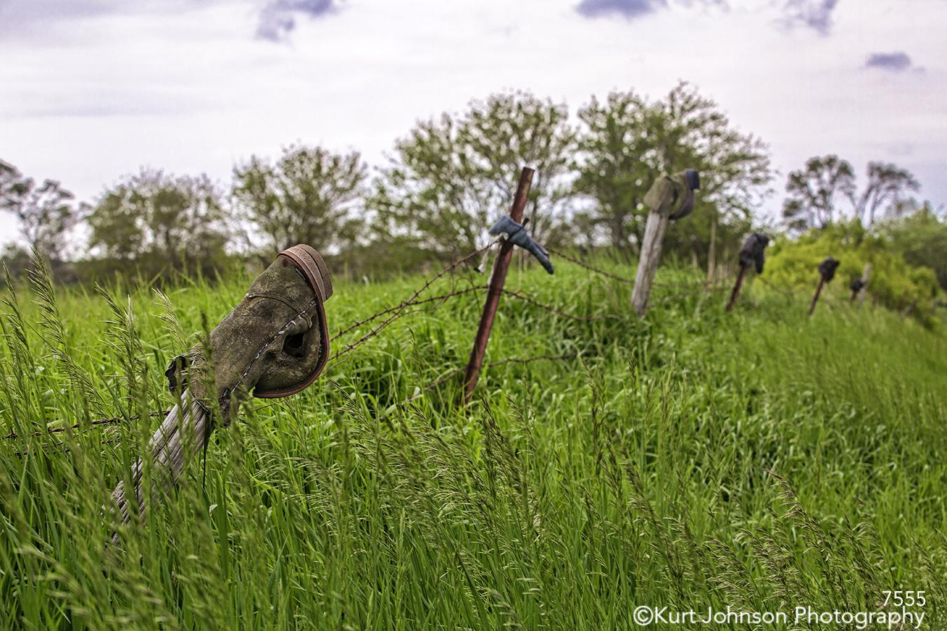 landscape grasses green rural fence boots