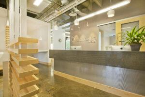architectural architecture interiors interior design lobby desk healthcare