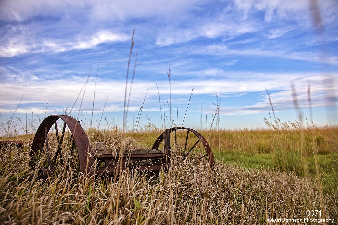 landscape grasses rural sky clouds blue