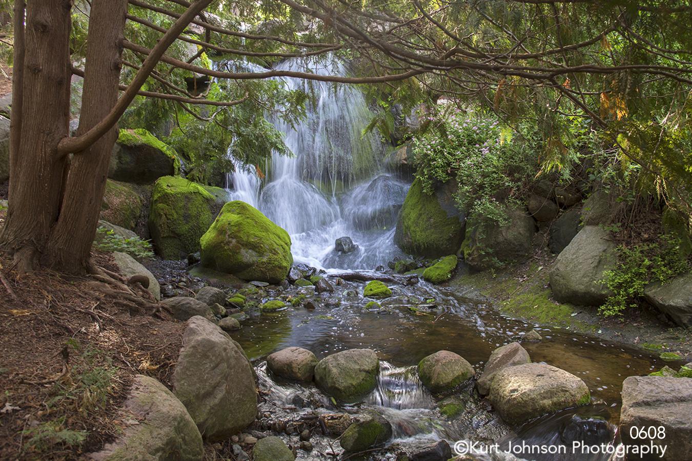 waterscape landscape waterfall rocks water trees minnesota