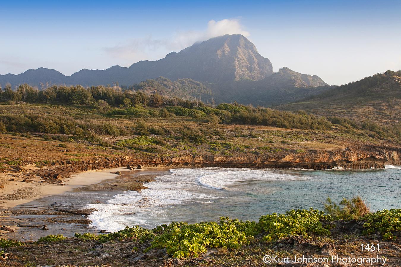 hawaii landscape waterscape mountain beach waves hawaii