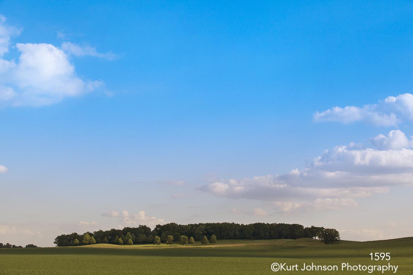 landscape trees green blue sky