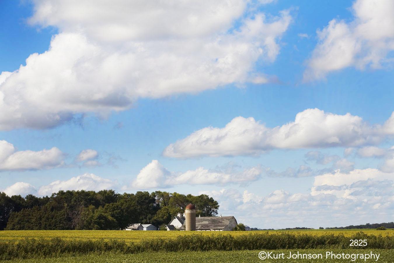 landscape rural barn clouds fields grasses