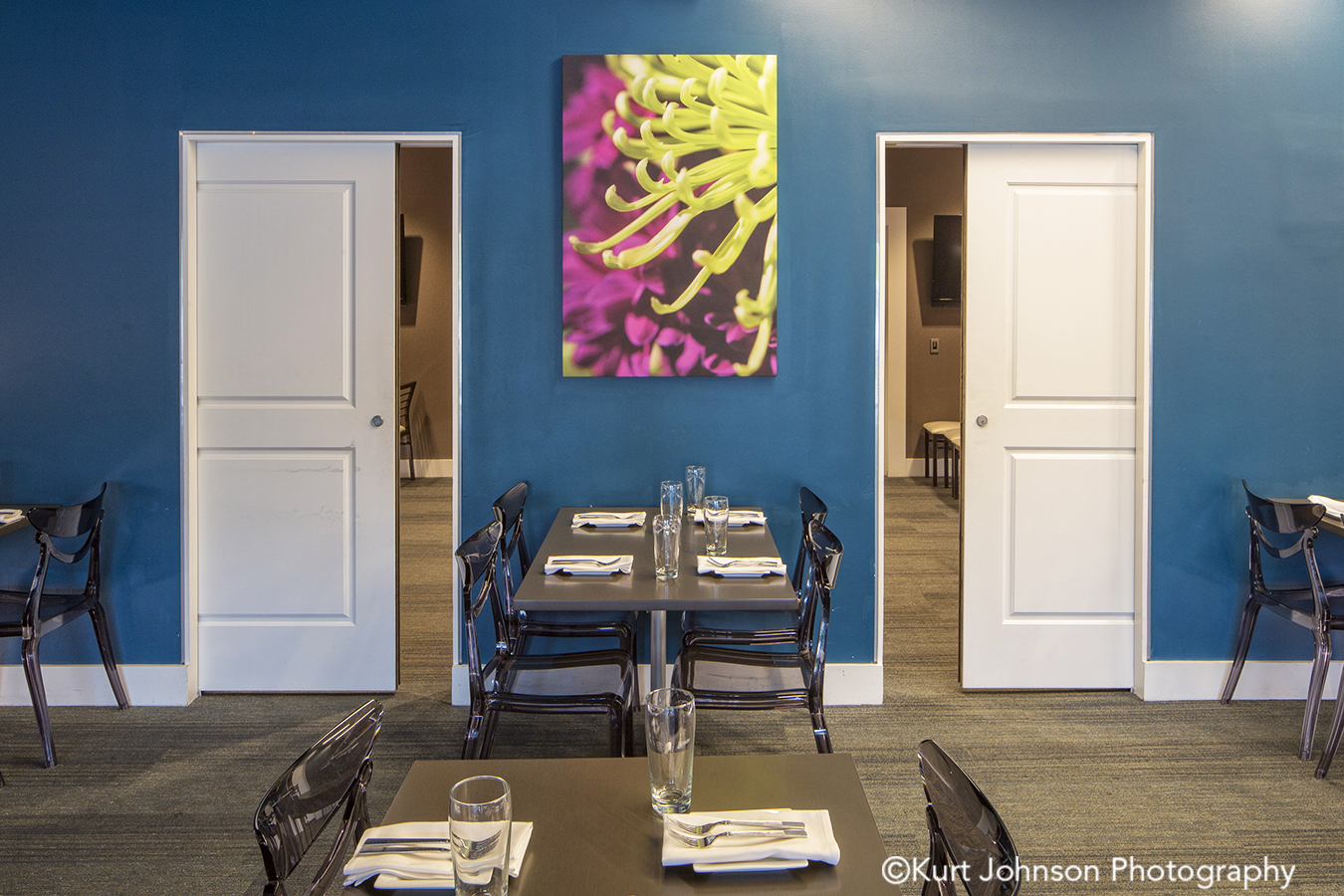 salt 88 omaha nebraska flower floral botanical restaurant installation gallery wrapped canvas acoustic panel panels