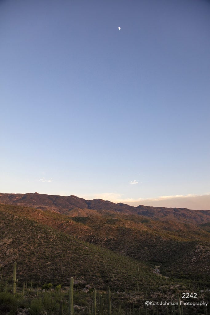 southwest landscape cactus clouds desert mountains