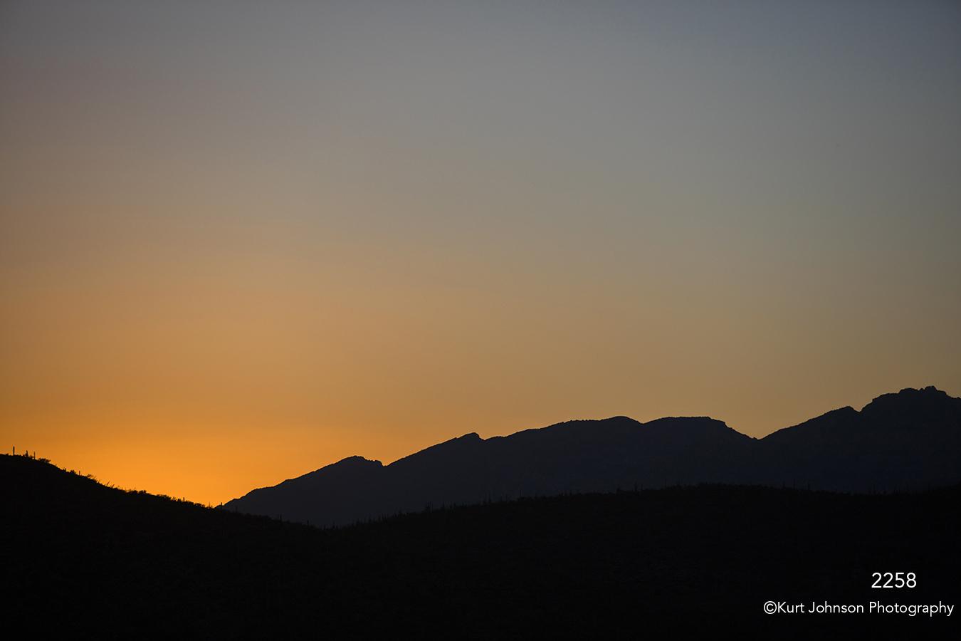 southwest mountains desert sunset orange yellow