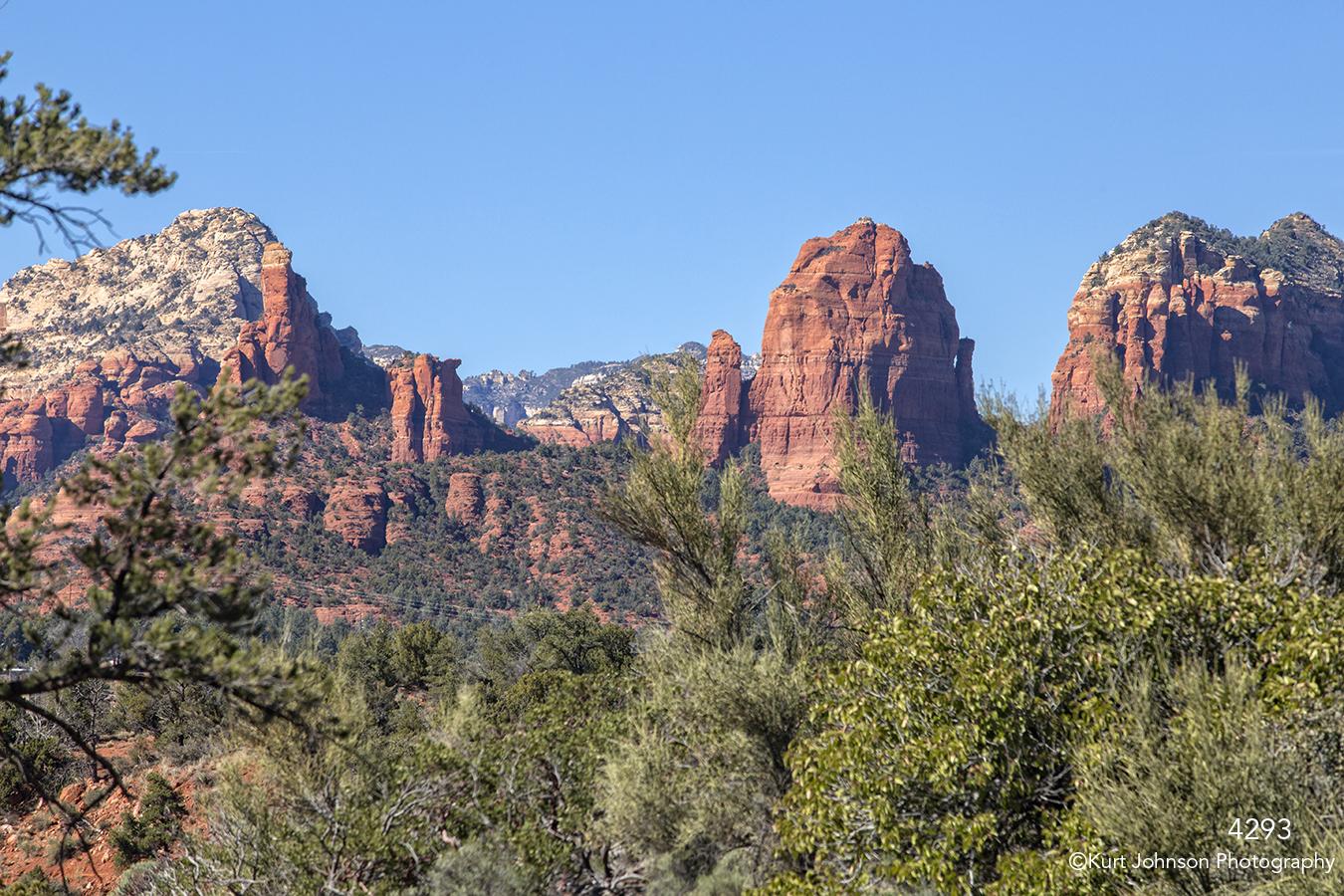 southwest landscape green grasses rocks desert