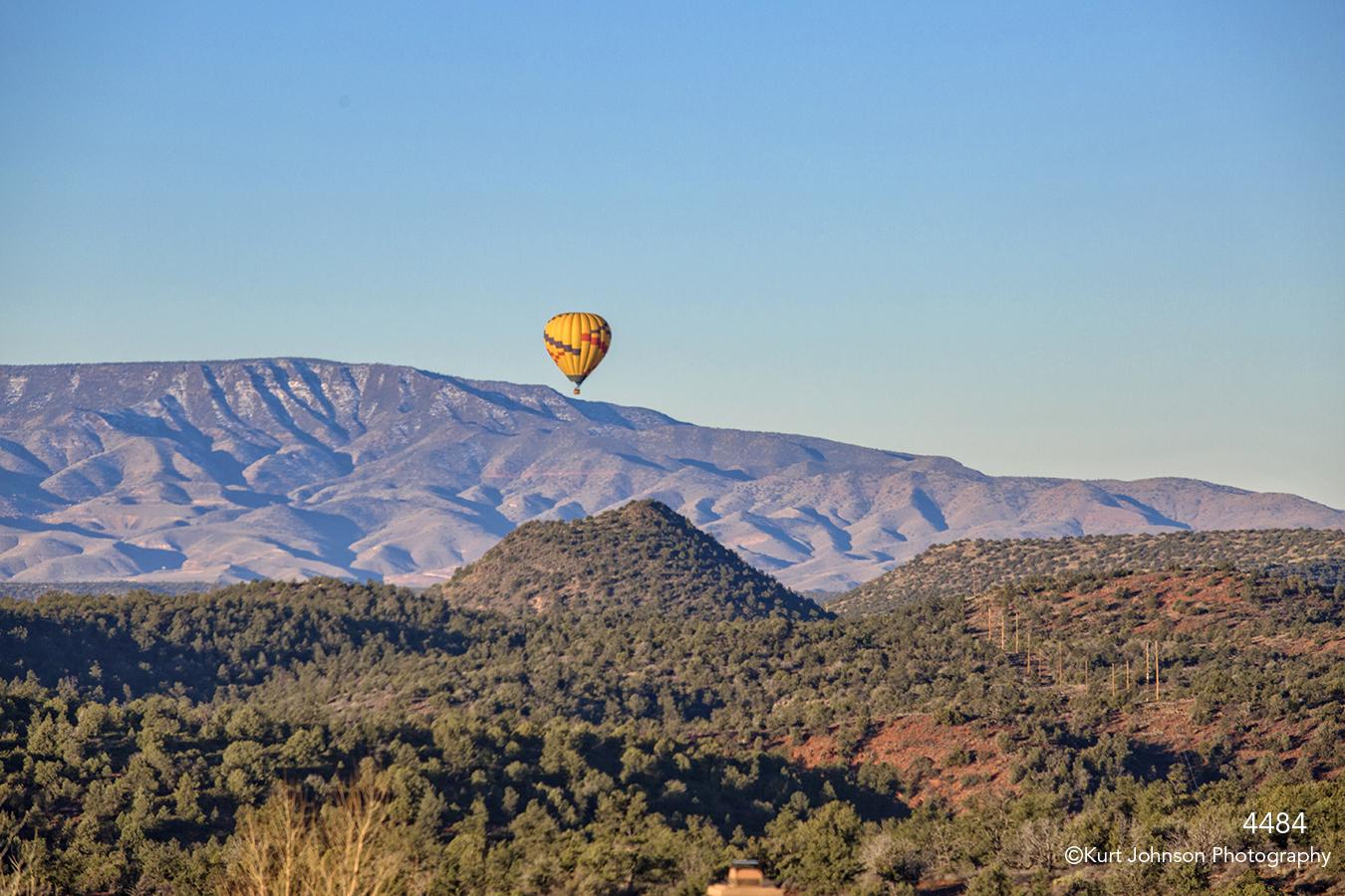 southwest landscape balloon rocks desert blue sky