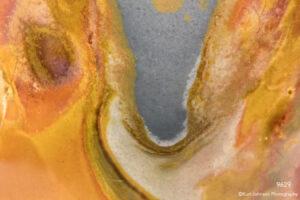 texture orange rock geod