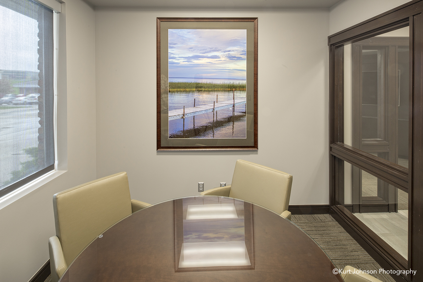 Sodero Law Install framed fine wall art Nebraska healing waterscape landscape healthcare design photography