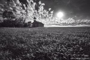 landscape black and white rural