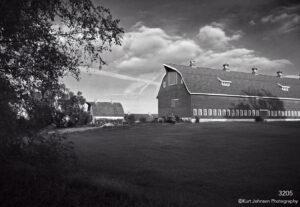 landscape black and white barn farm rural