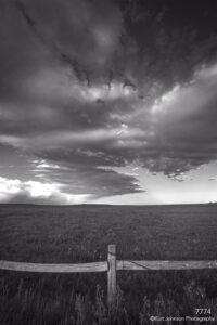 landscape black and white rural fence