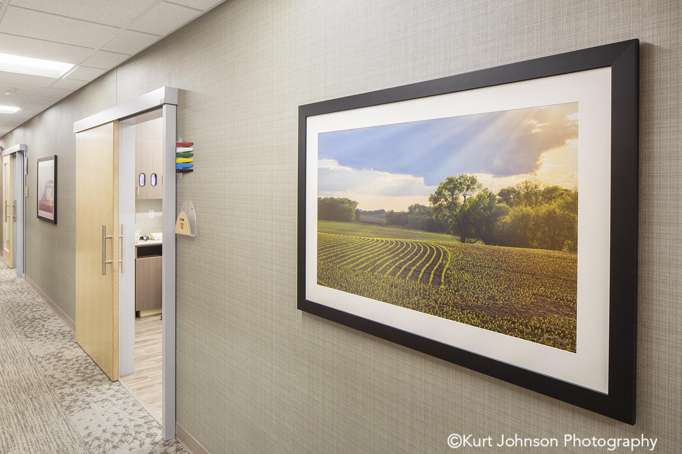 Allina Health wall art install healthcare installation landscape framed design
