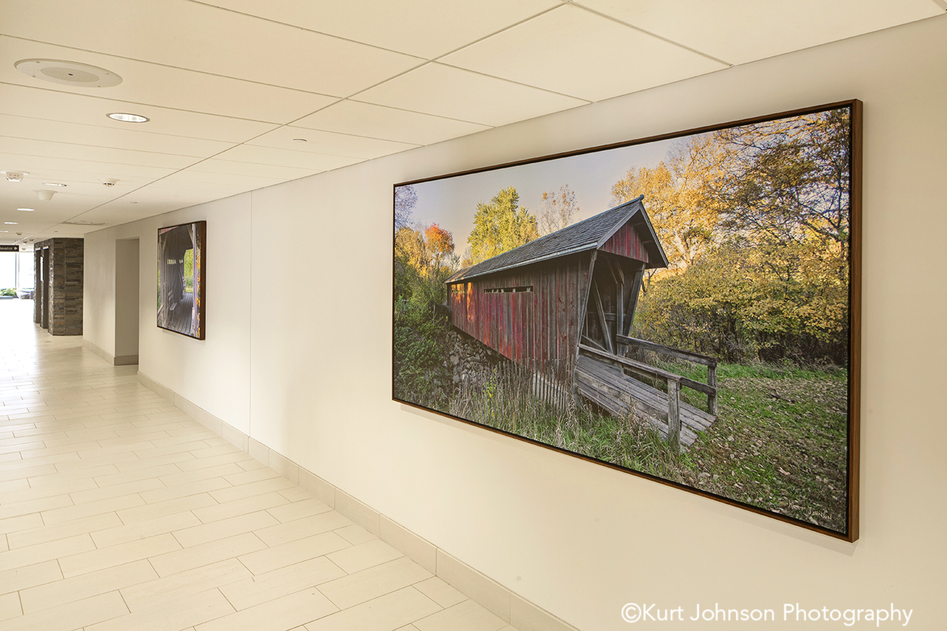 Brooking SD install framed gallery wrapped canvas wall art barn midwest installation