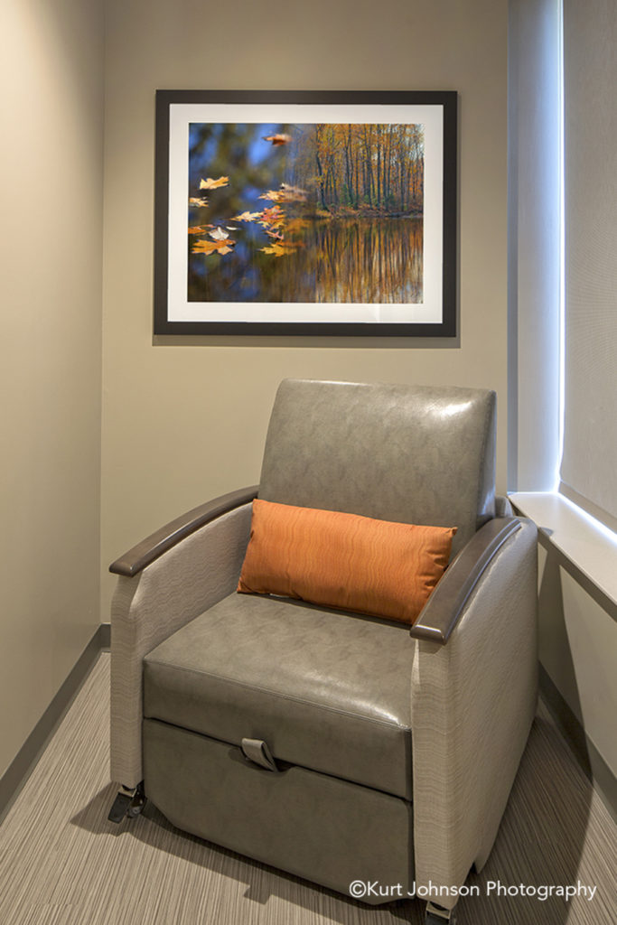 Lexington Regional Install framed waterscape art healthcare design installation