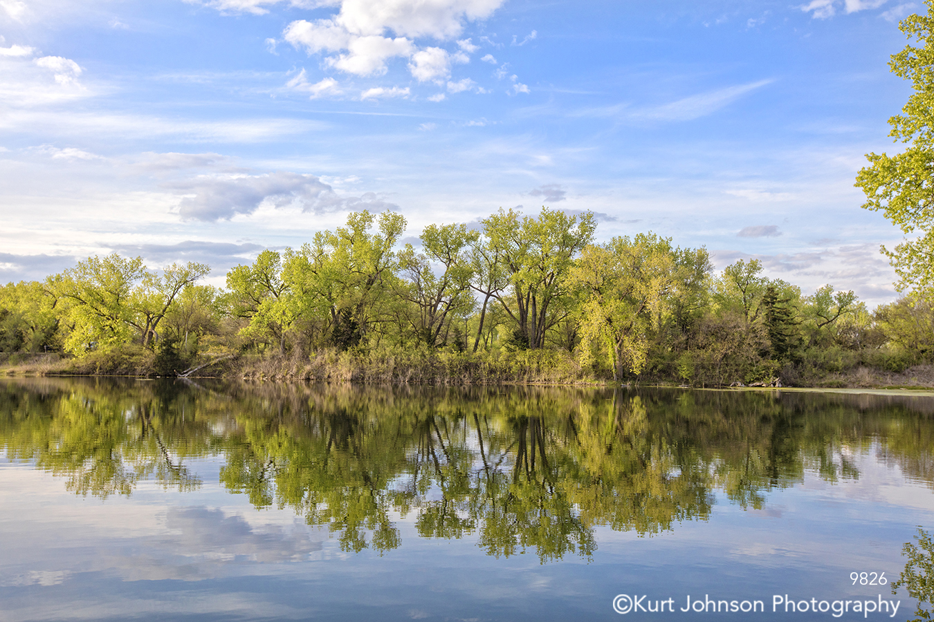 water waterscape waterscapes blue sky green trees landscape landscapes clouds mirror reflection