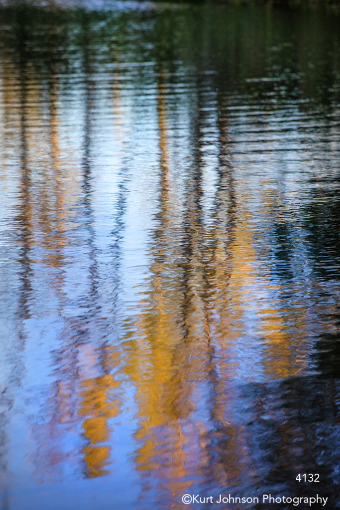 blue water orange reflection pattern texture lines waterscape