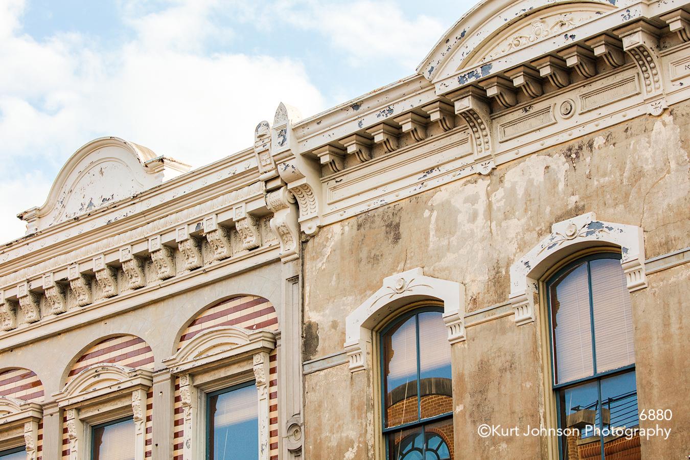 southeast Charleston South Carolina architecture building city tan brown windows blue sky