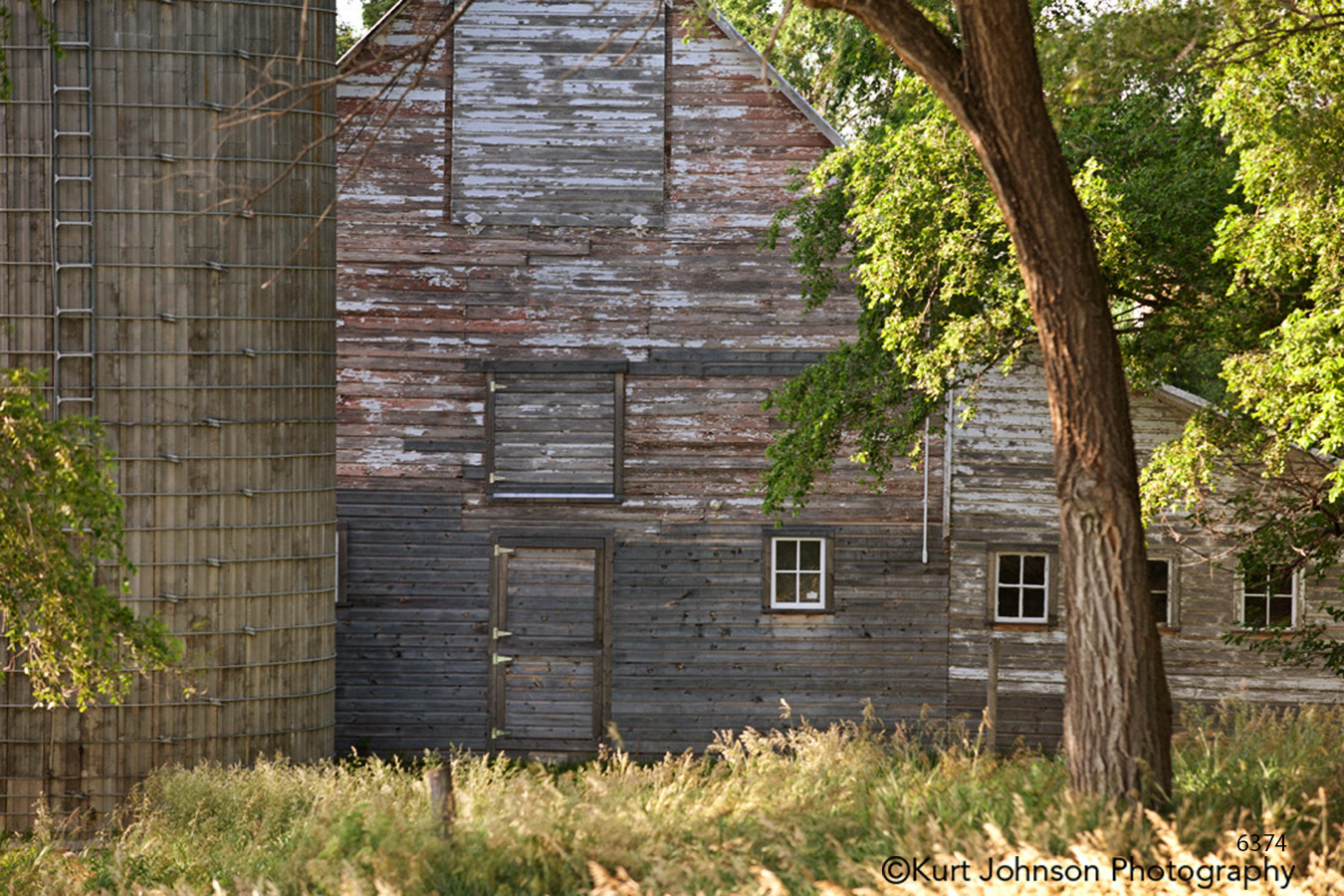 midwest wood barn tree field farm country green grass