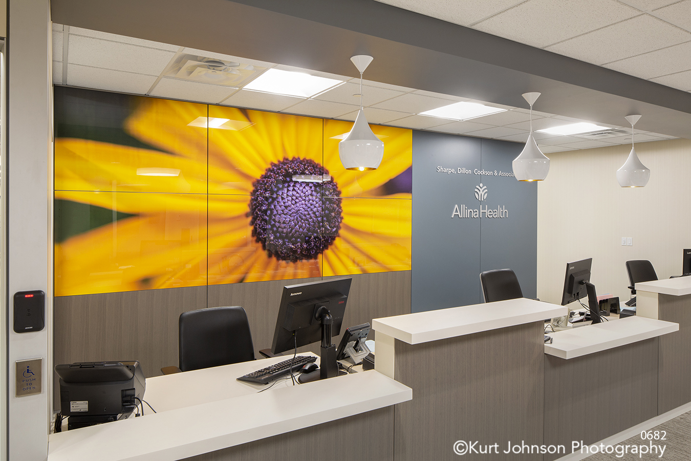 yellow flower DIRRT willow glass hospital installation design