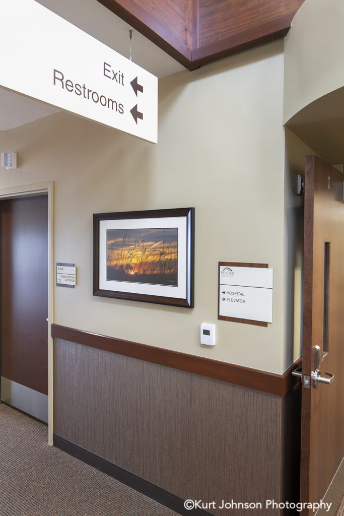 Pender Hospital Install framed art landscape photography midwest healthcare photography installation