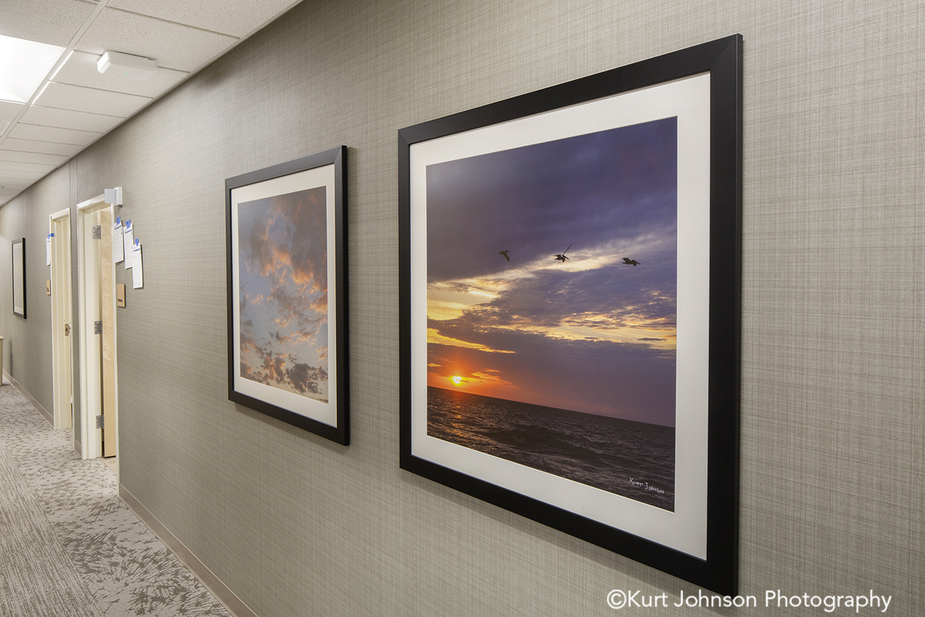 allina health healthcare install installation framed matte landscape art