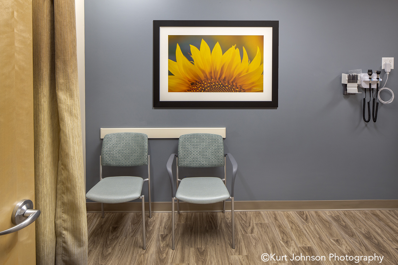 Allina Health art install healthcare installation yellow flower sunflower framed botanical design