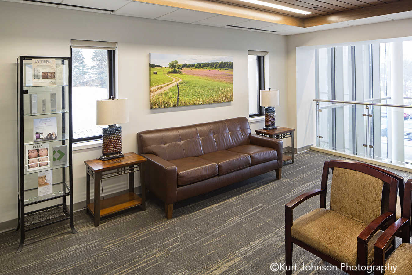 brooking south dakota healthcare installation gallery wrapped canvas reception waiting area