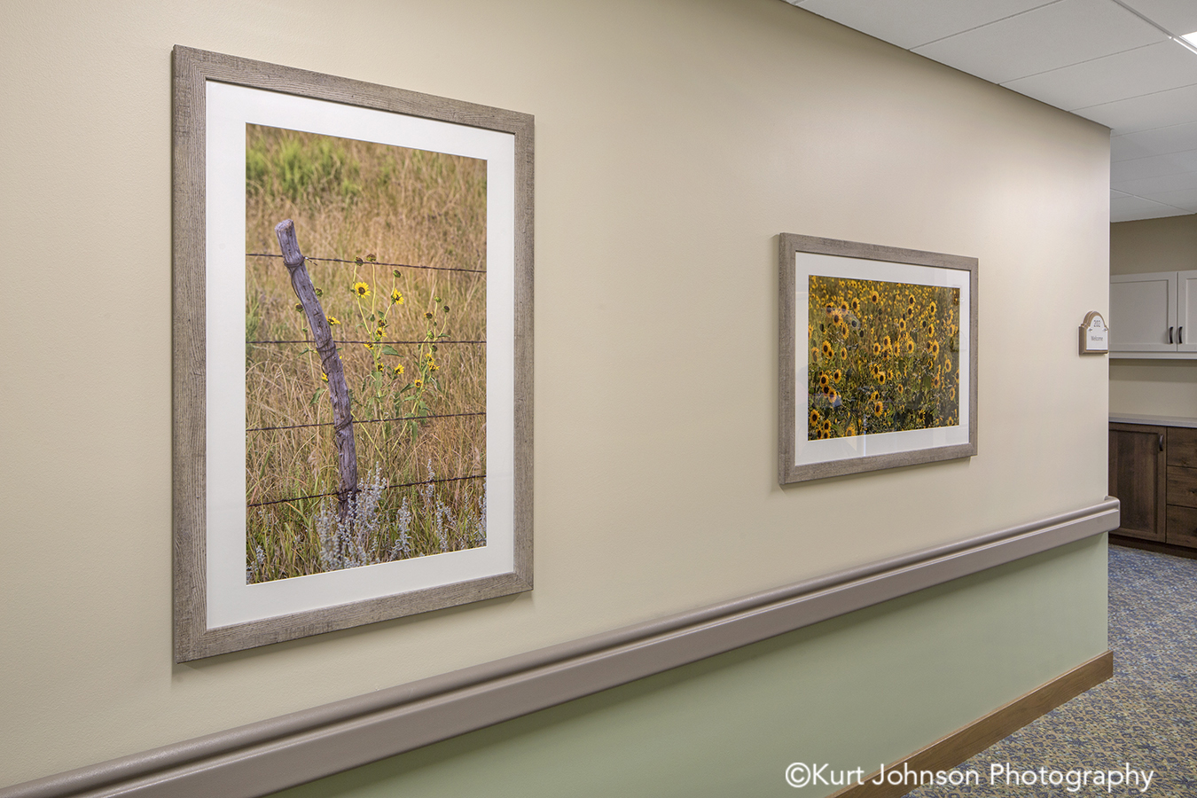 Broken Bow senior living installation framed fine art photography install midwest healthcare