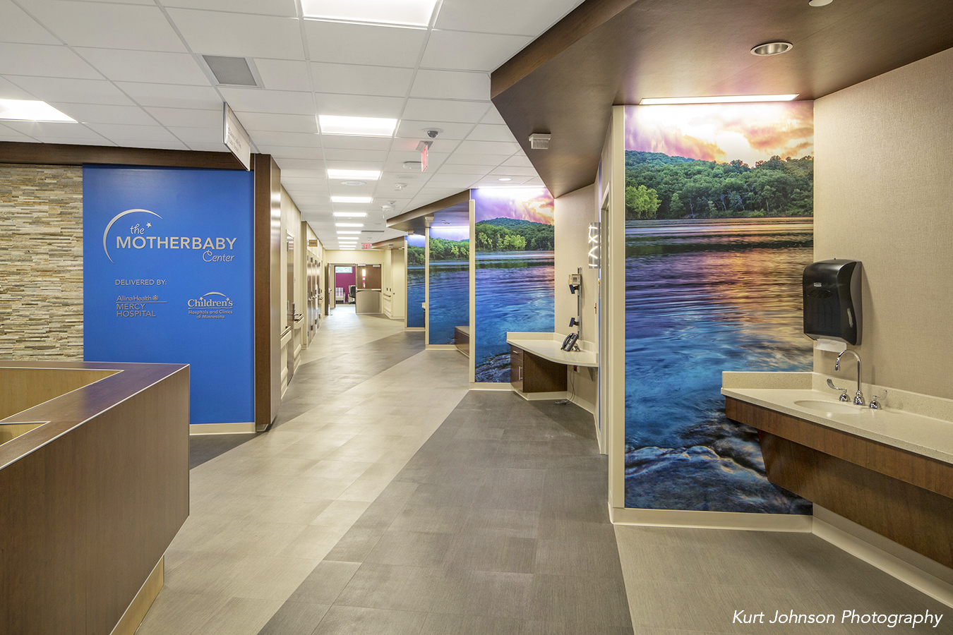 The Mother Baby Center at United And Children's Minnesota Coon Rapids MN HDR Minnesota install wallcovering installations