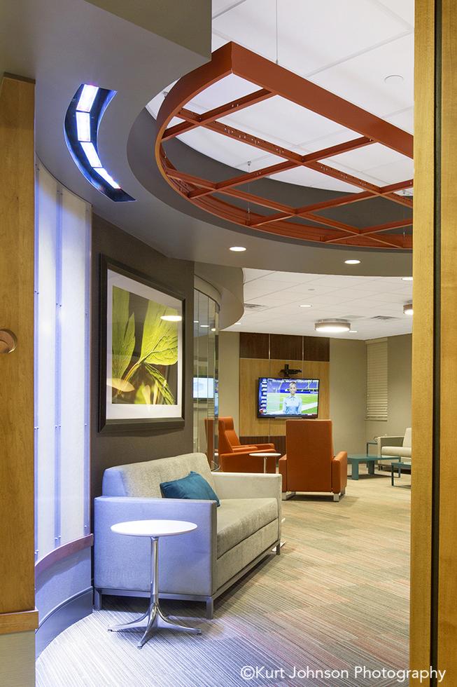 Bryan Health doctors lounge hospital Lincoln Nebraska framed botanical green leaves art install installation